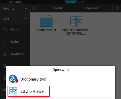 with the poc zip archive open in the es zip viewer navigate all the way into the poc zip archive until you see the zippoc txt file